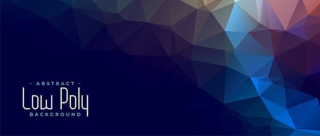 Diseño de banner geométrico abstracto triangular bajo poli