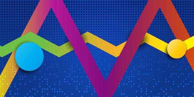 Diseño de banner geométrico abstracto