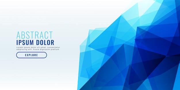 Diseño de banner geométrico azul abstracto