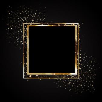 Diseño de banner golden glow