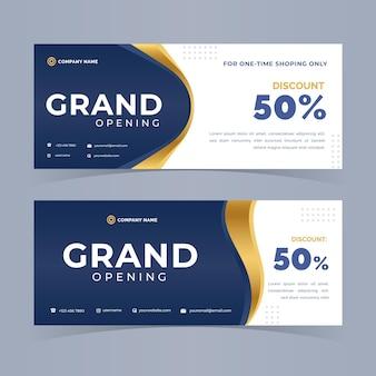 Diseño de banner de gran apertura