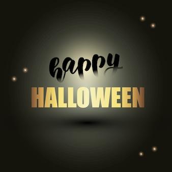 Diseño de banner de halloween feliz