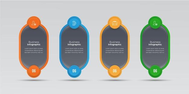 Diseño de banner de infografías de negocios
