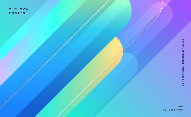 Diseño de banner de líneas abstractas azules
