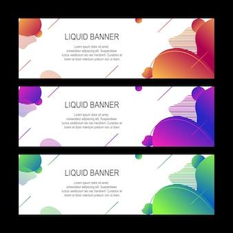 Diseño de banner líquido colorido