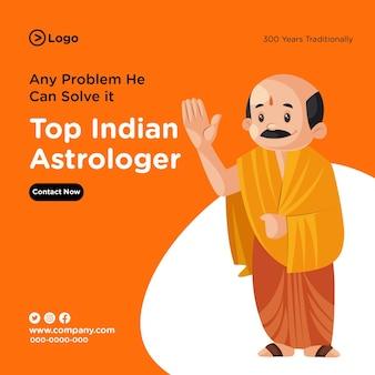 Diseño de banner de la mejor plantilla de astrólogo indio