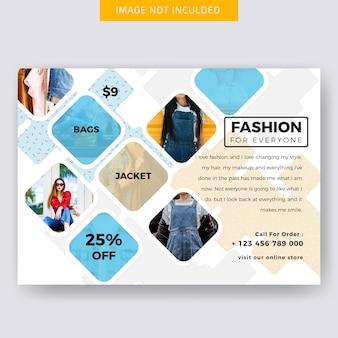 Diseño de banner de moda horizontal