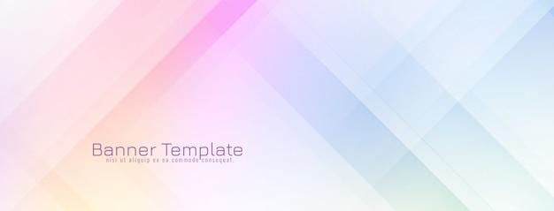 Diseño de banner moderno decorativo abstracto