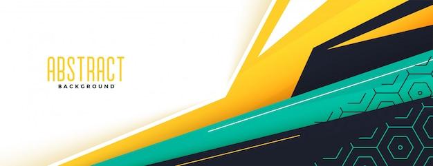 Diseño de banner moderno de estilo geométrico abstracto de memphis