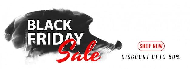 Diseño de banner moderno de mega venta de viernes negro