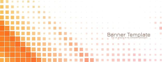 Diseño de banner de mosaico colorido moderno abstracto
