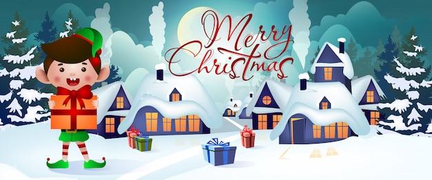 Diseño de banner de navidad