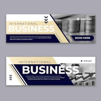 Diseño de banner de negocios moderno
