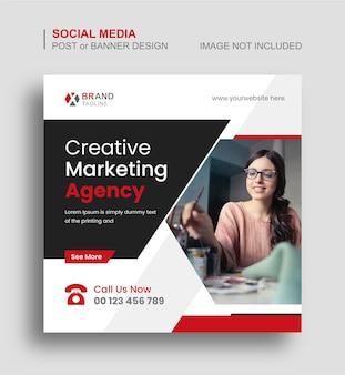 Diseño de banner o publicación de instagram de redes sociales de marketing de negocios corporativos