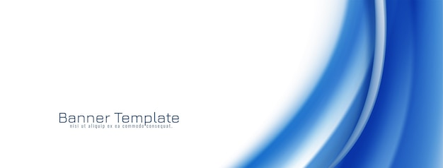 Diseño de banner de onda azul moderno
