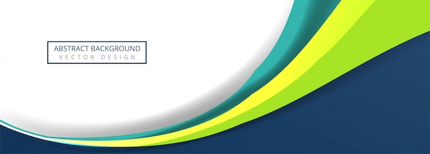 Diseño de banner de onda empresarial colorido abstracto