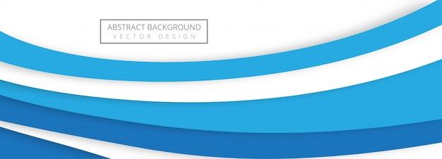 Diseño de banner de onda de papercut con estilo abstracto