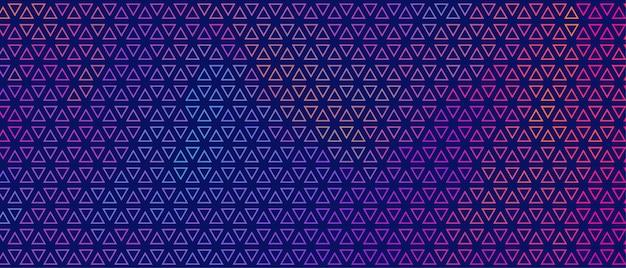 Diseño de banner de patrón de triángulo pequeño colorido abstracto