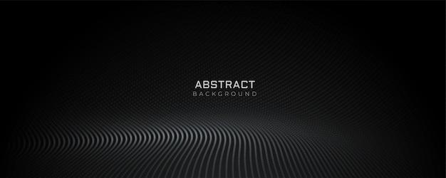 Diseño de banner piso de partículas negras