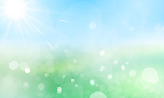 Diseño de banner primavera verano fondo de agua con hermoso