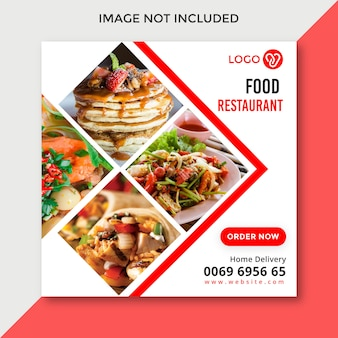 Diseño de banner de redes sociales de alimentos