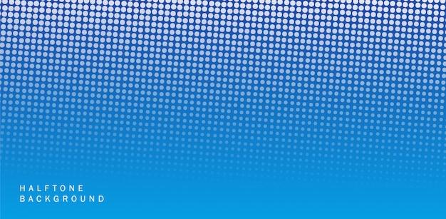 Diseño de banner de semitono abstracto azul