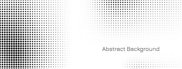 Diseño de banner de semitono abstracto