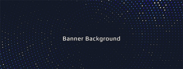 Diseño de banner de semitono colorido abstracto