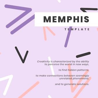 Diseño de banner de sitio web de memphis