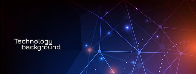 Diseño de banner de tecnología científica digital