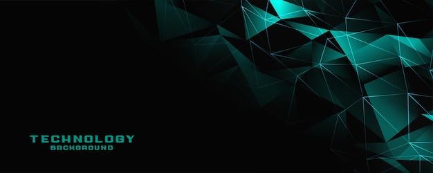 Diseño de banner de tecnología digital de baja poli.