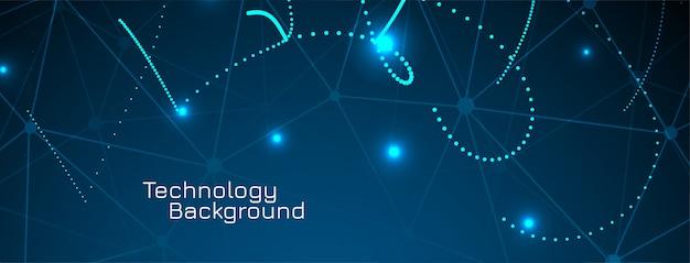 Diseño de banner de tecnología futurista abstracto