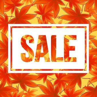 Diseño de banner de temporada de otoño. hoja de fal. ilustración de vector eps10