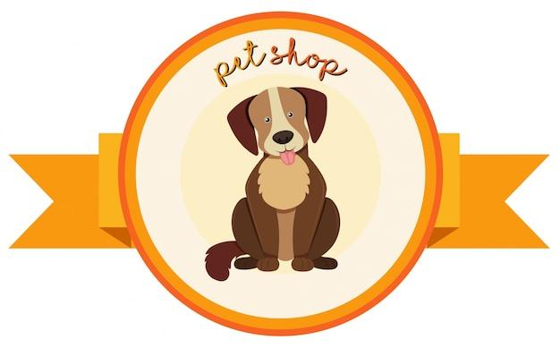 Diseño de banner para tienda de mascotas con perro lindo