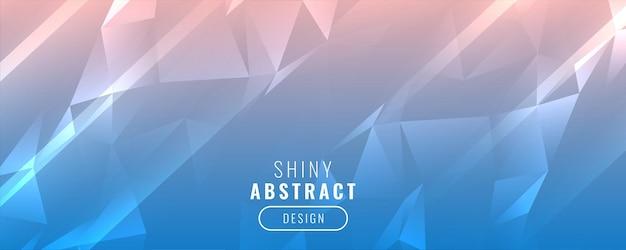 Diseño de banner de triángulo de baja poli brillante
