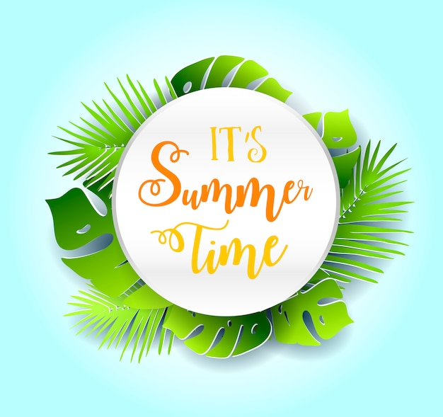 Diseño de banner de vector de horario de verano.