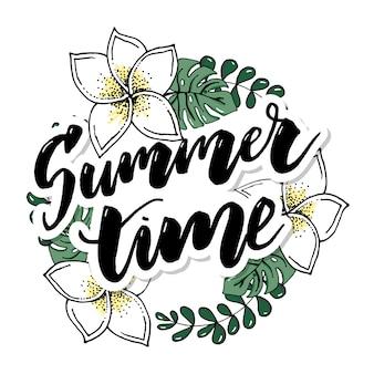 Diseño de banner de vector de horario de verano