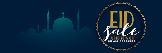 Diseño de banner de venta de festival de eid creativo