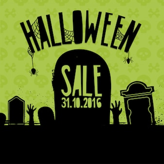 Diseño de banner para la venta de halloween.