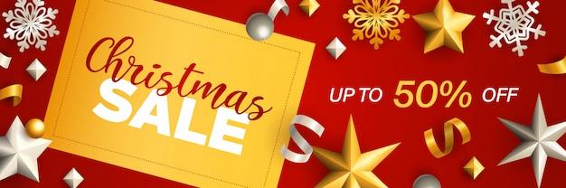 Diseño de banner de venta de navidad