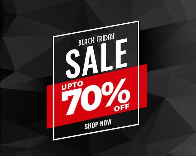 Diseño de banner de venta de viernes negro abstracto