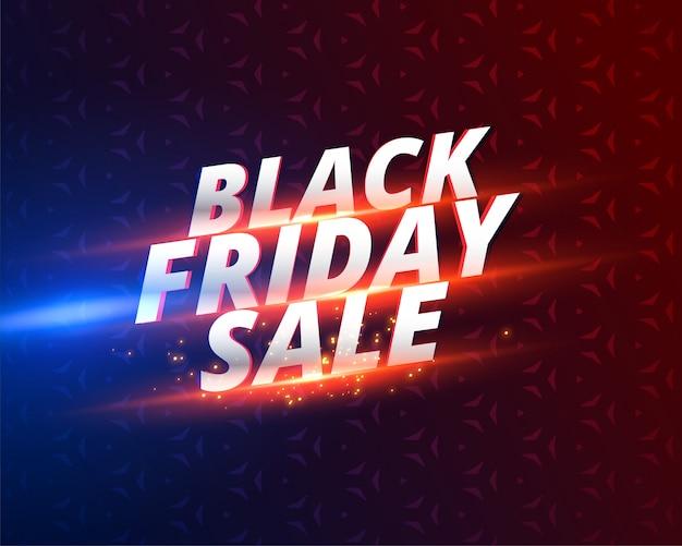 Diseño de banner de venta de viernes negro brillante