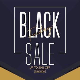 Diseño de banner de venta de viernes negro. ilustración. espacio para texto