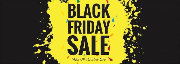 Diseño de banner de venta de viernes negro vector gratuito