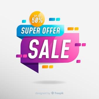 Diseño de banner de ventas abstracto