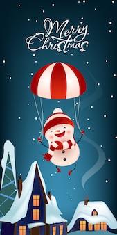 Diseño de banner vertical de navidad