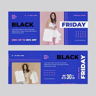 Diseño de banner de viernes negro
