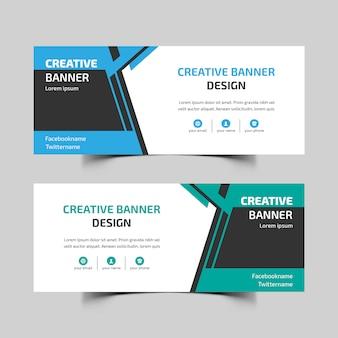 Diseño de banner web abstracto
