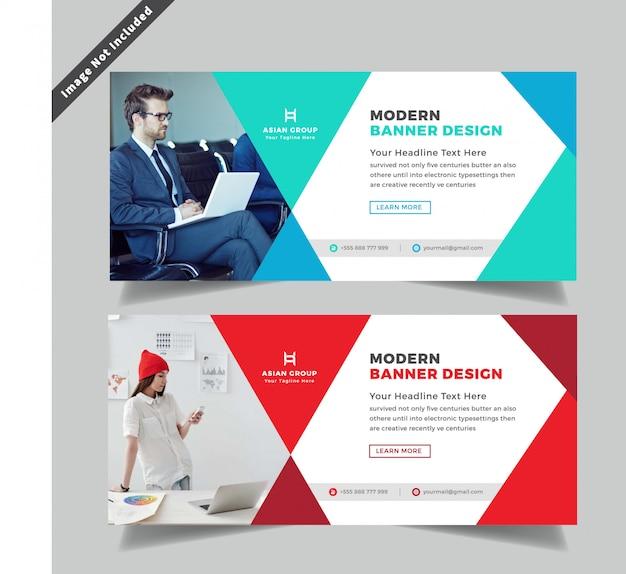 Diseño de banner web de negocio creativo