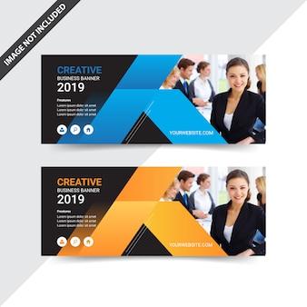 Diseño de banner de web de negocio moderno